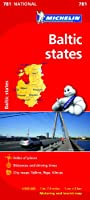 Baltic States NATIONAL Map (Michelin National Maps)