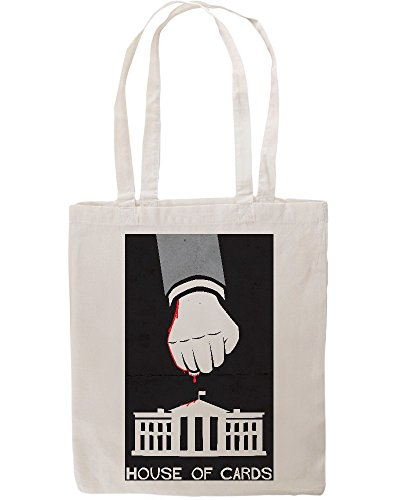House Of Cards Poster Bloody Fist Smashes White House Tote Shopping Bag