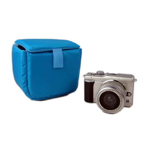 Magicdots Shockproof Padded Camera Insert Protective Bag For Canon Sony Nikon Dslr Shot Flash Light With Velcro (Blue)