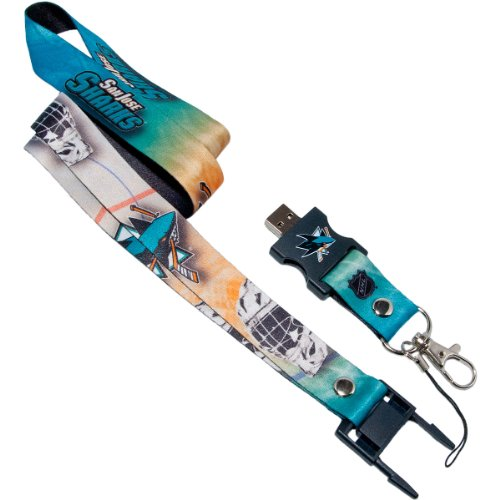 Amazon.com: NHL San Jose Sharks 4gb USB Flash Drive Lanyard