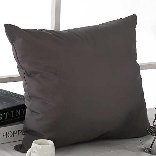 Deconovor microfiber decorative pillowcase cushion cover for Sofa cushion covers 24x24