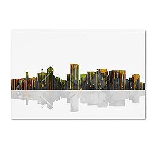 Buy Trademark Fine Art Portland Oregon Skyline Wall Decor