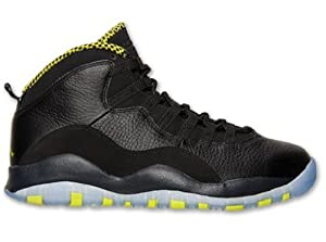 NIKE AIR JORDAN RETRO 10 MENS Black-Venom-Green-310805-033 sz 7.5