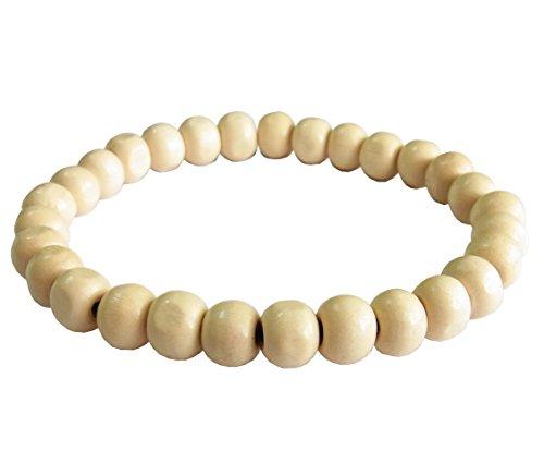 artisan-handgefertigt-unisex-modische-armband-weiss-mala-holz-beads-elastisch