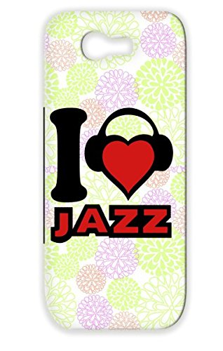 Tear-Resistant Metal Microphone Rocknroll Rock Jazz Dj Mikrophone Records Rampampb Country Musik Party Pop Music Headphone Classic Micro Dance Disco Music Sound Hiphop Dancer Fun Karaoke House Protective Case For Sumsang Galaxy Note 2 Red I Love Jazz