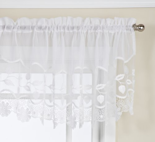 Linen Lorraine Home Fashions: Lorraine Home Fashions Seville Tailored M Valance, 58 By