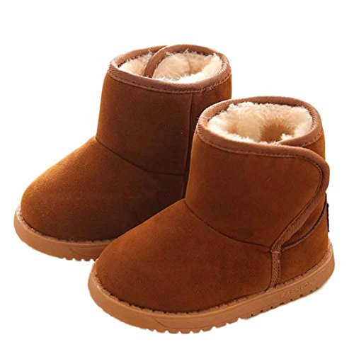 Iuhan Fashion New Winter Baby Child Style Cotton Boot Warm Snow Boots (Age:1-2Years, Brown)