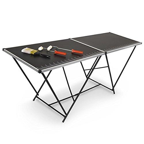 Relaxdays-Tapeziertisch-klappbar-2-m-mit-Mess-Skala-und-Tragegriff-200-cm-fr-Flohmarkt-Camping-HxBxT-77-x-200-x-60-schwarz