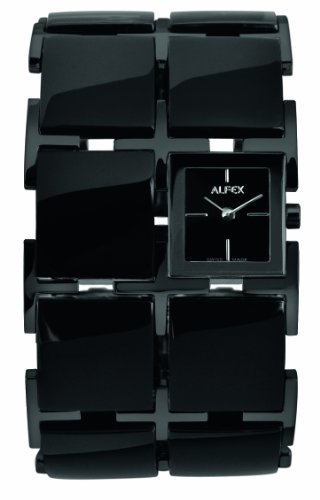 Alfex 5686_829-Women's Quartz Analogue Watch-Black Resin Strap