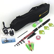 FTD Complete Fishing Set - Rod / Reel & Spare Spool / Tackle / Bag - Ideal Travel Holiday Pack