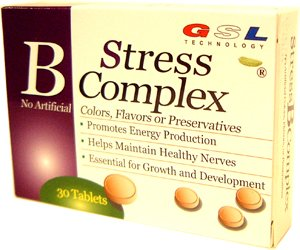 GSL Technology B Stress Complex For Energy and Nerves