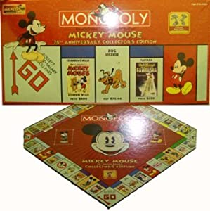 mickey mouse monopoly Monopoly: mickey mouse anniversary collector's edition is a variant on the classic monopoly board game published by usaopoly in 2004 to celebrate 75 years of mickey mouse.