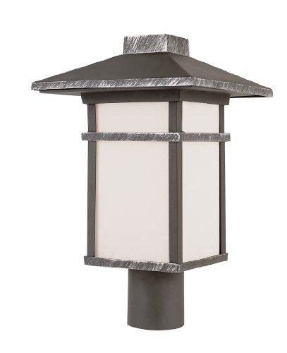 Trans Globe Lighting 40025 Swi 17-Inch Mission Post Mount Lantern, Iron