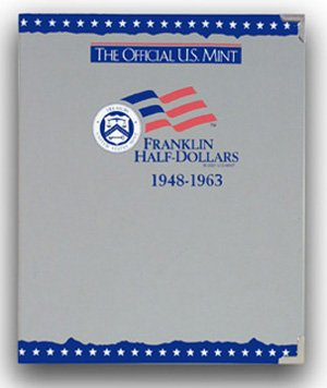 The Official US Mint / Coin Album Franklin Half Dollars, 1948-1963 - By Whitman