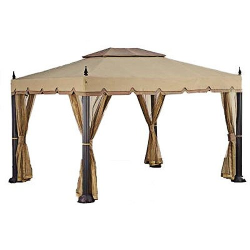 Replacement Canopy and Netting Set for Home Depot's Mediterra Gazebo (10'x12)