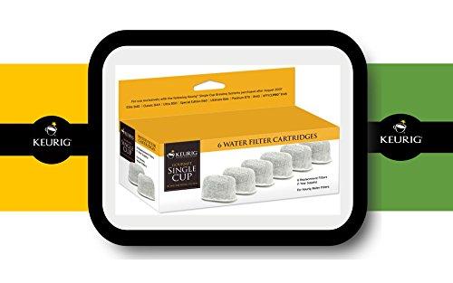 Keurig Water Filter Cartridges For Keurig K60, K65, K70, K75 - 6 Pack