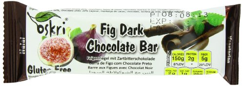 Oskri Fig Bar With Dark Chocolate, 1.9-Ounce (Pack Of 20)