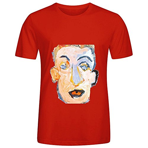 Bob Dylan Self Portrait Electronica Men Crew Neck Art T Shirt Red (Fraggle Harness compare prices)