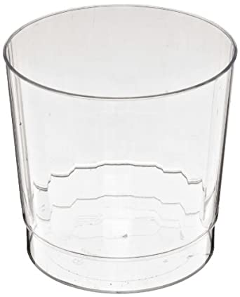 Classic Crystal CCR9240 9 oz Clear Rocks Squat Fluted Tumbler (12 Packs of 20)
