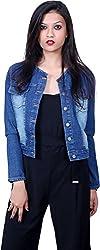 Style Souk Women's Regular Fit Jacket (Skj009, Blue, Large)