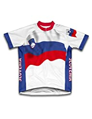 Slovenia Flag Short Sleeve Cycling Jersey for Women