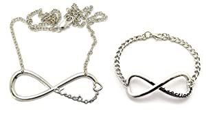 One Direction 1D Infinity Directioner Bracelet & Necklace Set R