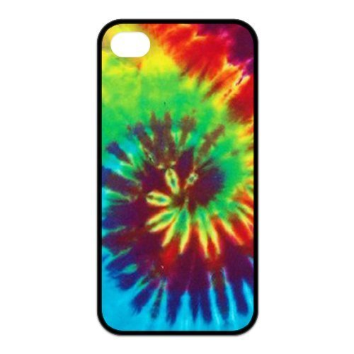 Treasure Design Tie-Dye Apple iPhone 4/4S Best Silicone Cover Case Spades Tie Dye T-Shirt