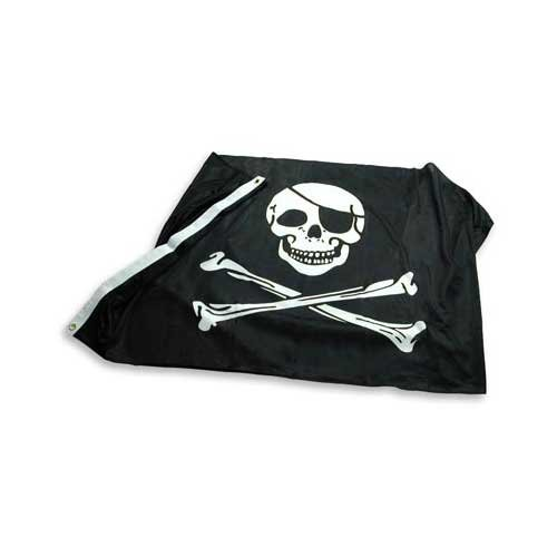 [Pirate - Jolly Roger - Flag 3ft x 5ft Superknit Polyester] (Pirate Cost)