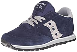 Saucony Originals Men\'s Jazz Low Pro Retro Running Classic Sneaker, Navy/Grey, 10 D US