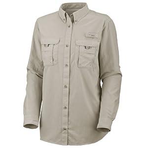 Columbia Sportswear Women's Plus-Size Bahama Long Sleeve Shirt, Fossil, 1X