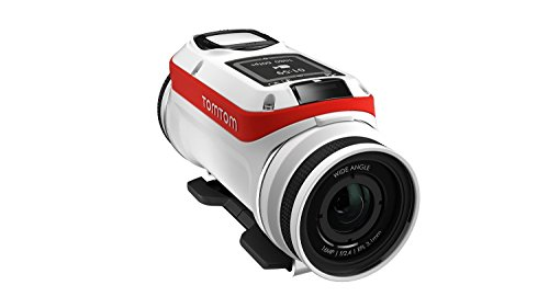 TomTom Bandit Base - Videocámara deportiva Full HD 1080p, color blanco y rojo