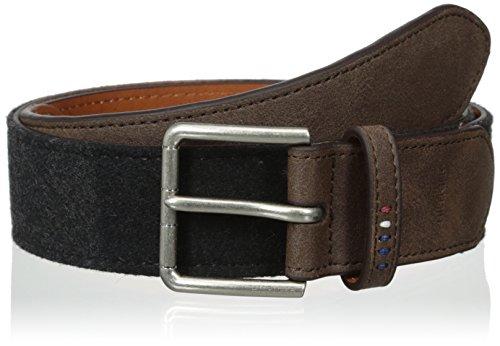 Tommy-Hilfiger-Mens-Felt-Panel-Casual-Belt-With-Stitched-Eyelets