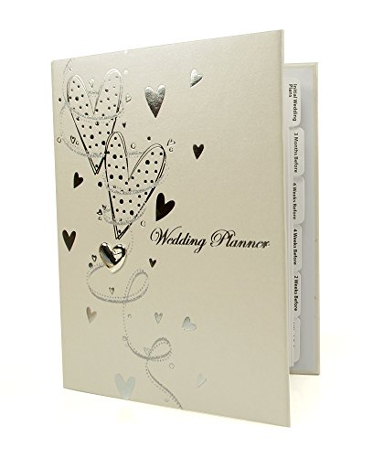 Ukgiftstoreonline Hearts And Swirls Wedding Planner Organiser Gift