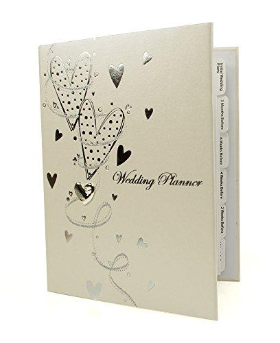 Ukgiftstoreonline Hearts And Swirls Wedding Planner Organiser Gift