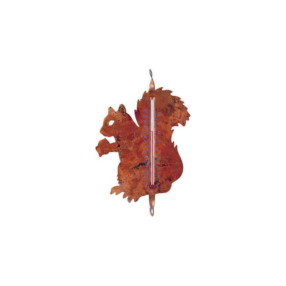 Squirrel Nature Thermometer   flamed Copper, Indoor