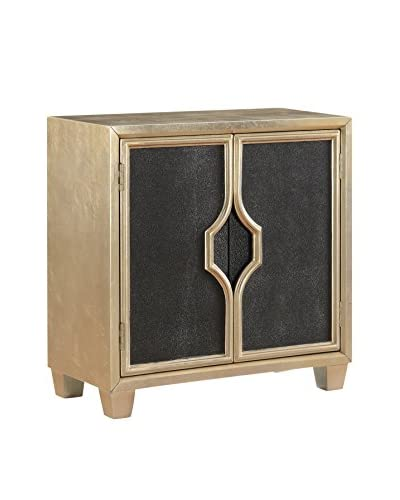 Coast to Coast Glam 2-Door Cabinet, Gold