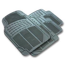 Front & Rear Car Truck SUV Premium Rubber Floor Mats - Grey from LA Auto Gear