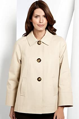 Pure Cotton Textured Swing Coat