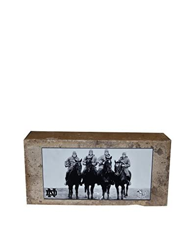 Steiner Sports Memorabilia Notre Dame Brick With 4 Horsemen Nameplate, 3 x 5