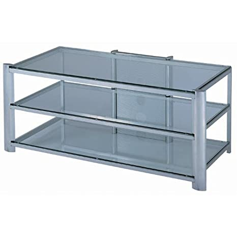 Lite Source LSH-5611SILV 24in. Davis TV Stand, Silver