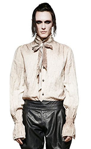 Punk Rave -  Camicia Casual  - Uomo bianco Uomo S