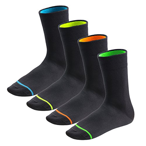8 paia di calze Neon Glow unisex - 43-46