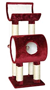 Kerbl Saturn Cat Tree, 40 x 40 x 110 cm, Red
