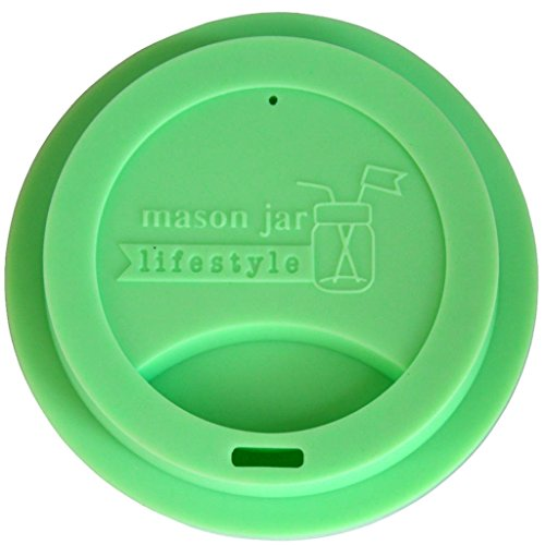Silicone Drinking Lid for Mason, Ball, Canning Jars (Mint Green, Regular Mouth) (Sippy Cup Lids For Ball Jars compare prices)