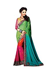 Bikaw Embroidered Green Georgette Party Wear Saree - BT-2526-H