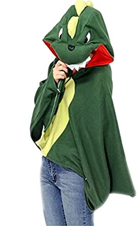 Voglee- Anime Cosplay Cloak Cute Animals Cloak Halloween Costume (Totora)