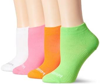 WrightSock Women's Coolmesh II Lo Running Sock 4 Pack, Multi, Small