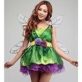 ハロウィン ティンカーベル 妖精 羽付 ドレス コスチューム