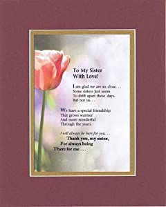 Amazon Com Touching And Heartfelt Poem For Sisters To