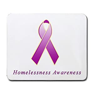 Amazon.com : Homelessness Awareness Ribbon Mouse Pad : Office Products